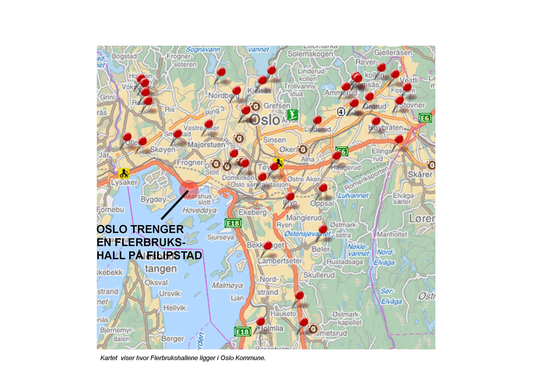 bi oslo kart Her er kart over hvor dagens flerbrukshaller er i Oslo | Ankern bi oslo kart